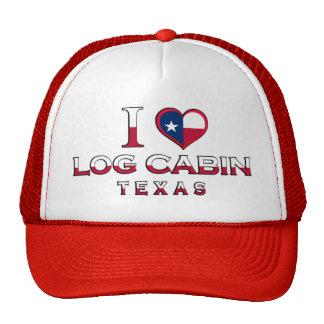 Log Cabin, Texas Mesh Hats
