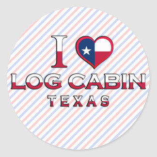 Log Cabin, Texas Stickers