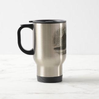 log cabin travel mug | 1800s cabin engraving