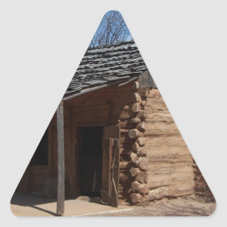 Log Cabin Triangle Sticker
