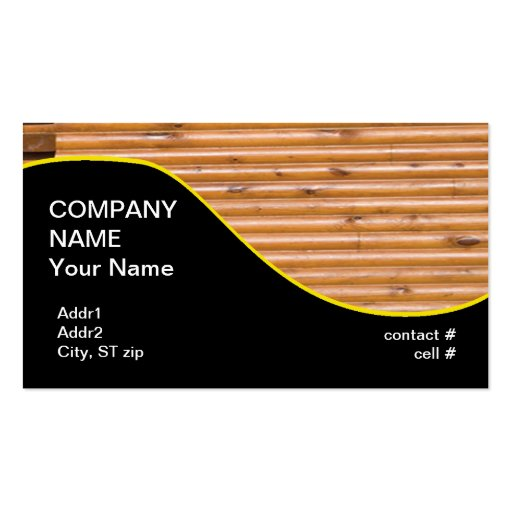 log cabin wall business cards