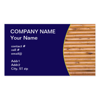 log cabin wall business card template