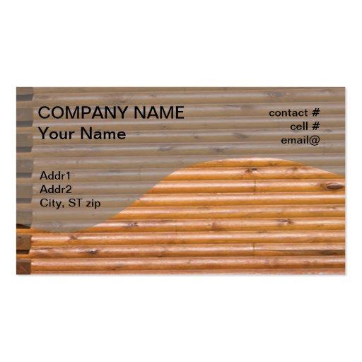 log cabin wall business card template