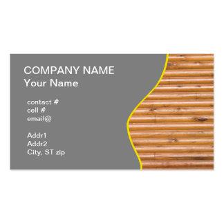 log cabin wall business card templates
