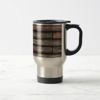Log Cabin Wall Coffee Mugs