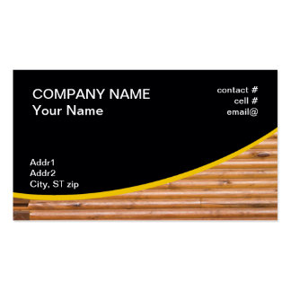 log cabin wall pack of standard business cards