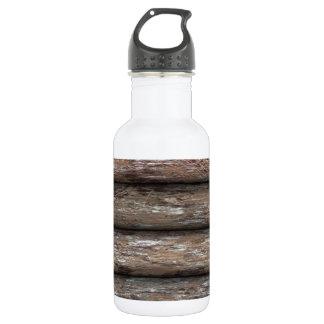 Log Cabin Wall 532 Ml Water Bottle