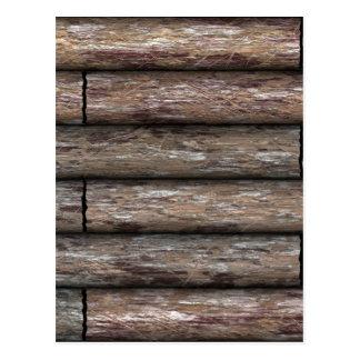 Log Cabin Wall Postcard