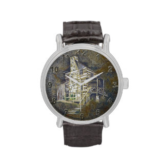 Log Cabin Wrist Watch