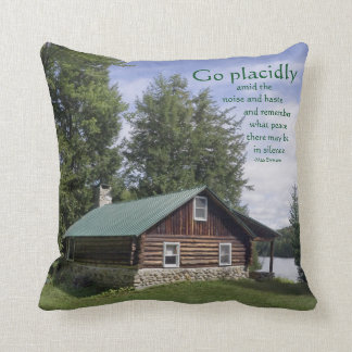 Log Cabin with Poetry Cushion