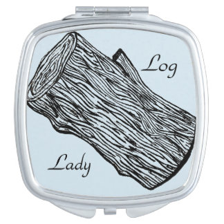 Log Lady Beauty Compact Mirrors