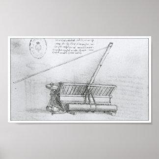 Log Lifting & Moving Device, Leonardo da Vinci Poster