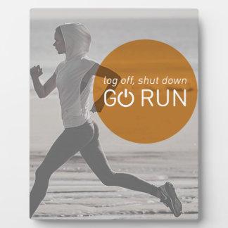 Log Off Shut Down Go Run Plaque