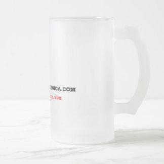 Log on Telnet - Glass Beer Mug