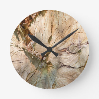 Log pattern round clock