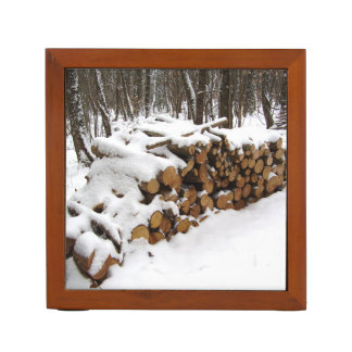 Log Pile in the Woods Desk Organiser
