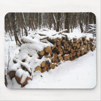 Log Pile in the Woods Mouse Mat