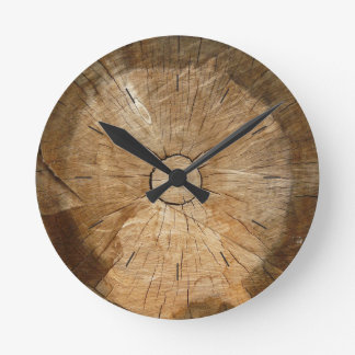LOG WOOD  | natural tree sliced Round Clock