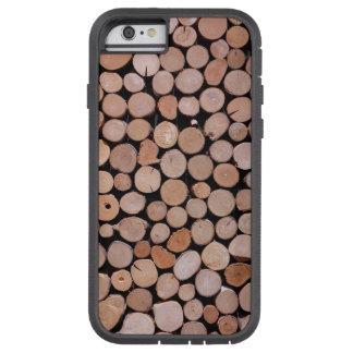 Log Wood Pile Brown Tough Xtreme iPhone 6 Case