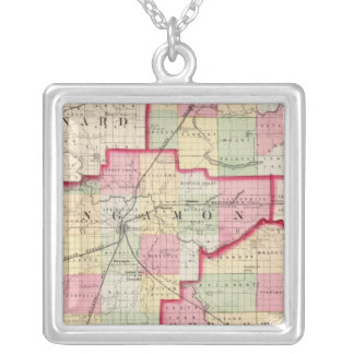 Logan, Sangamon, Christian counties Silver Plated Necklace