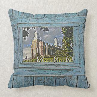 Logan Temple, Blue tone, Cushion