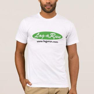 Logarun Logo White American Apparel Fitted T-Shirt