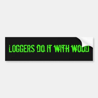 LOGGER bumper sticker