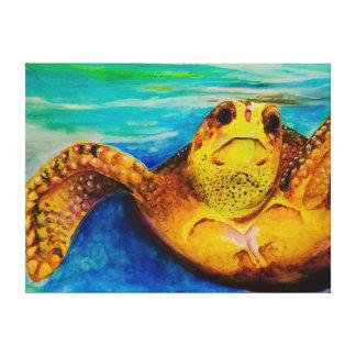 Loggerhead Sea Turtle Canvas Print