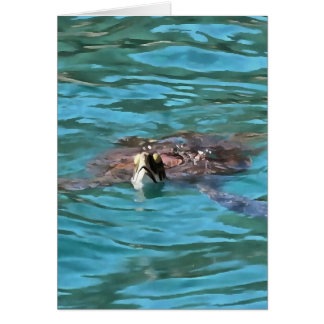 Loggerhead Sea Turtle Card