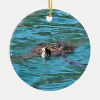 Loggerhead Sea Turtle Ceramic Ornament
