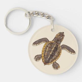 Loggerhead Sea Turtle Hatchling Keychain