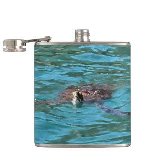 Loggerhead Sea Turtle Hip Flask