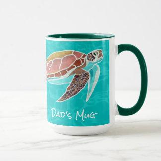 Loggerhead Sea Turtle Illustrated Dads Mug