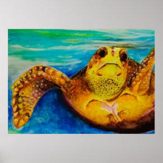Loggerhead Sea Turtle Poster