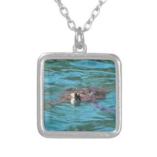 Loggerhead Sea Turtle Silver Plated Necklace