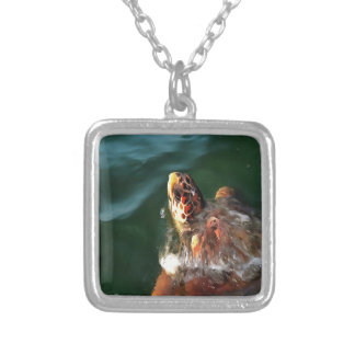Loggerhead Turtle Silver Plated Necklace