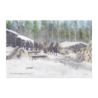 Logging Camp Canvas