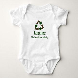 Logging: Green Industry Baby Bodysuit