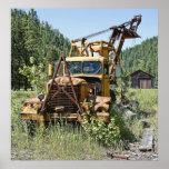 Logging Truck - Burke Idaho Ghost Town Poster