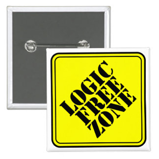 LOGIC FREE ZONE 15 CM SQUARE BADGE