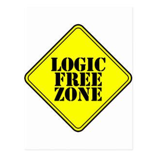 LOGIC FREE ZONE POSTCARD