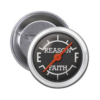 logic guage 6 cm round badge