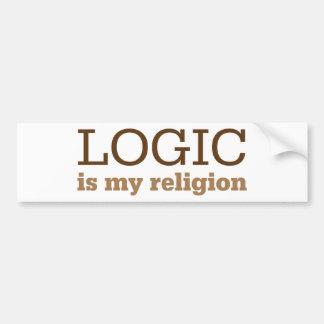 Logic Is My Religion Bumper Sticker