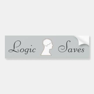 Logic Saves Bumper Sticker
