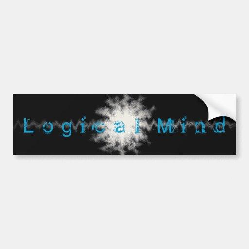 Logical Mind Bumpter Sticker Bumper Sticker