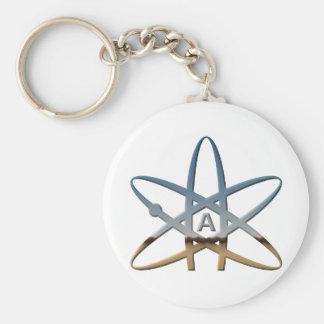 Logidea atheist atomic symbol key ring