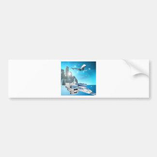Logistics city concept bumper sticker