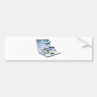 Logistics laptop computer concept bumper stickers