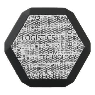 LOGISTICS pattern with words Black Boombot Rex Bluetooth Speaker