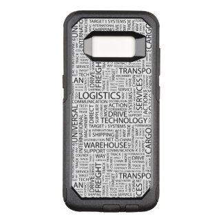 LOGISTICS pattern with words OtterBox Commuter Samsung Galaxy S8 Case